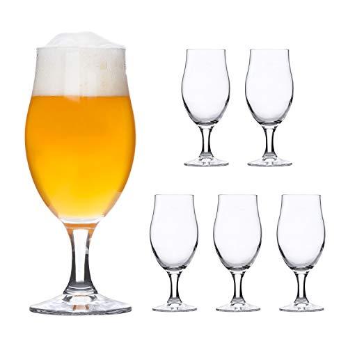 Bormioli Rocco - Set di 6 bicchieri da birra cocktail Executive a tulipano 0,3 l perfetti per le...
