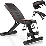 Yoleo Adjustable Incline Folding Bench Multi-Purpose Sit up Bench Portable Exercise Bench Fitness Training, 7...