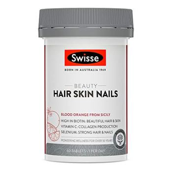 Swisse Beauty Hair, Skin & Nails Tablets   Supports Collagen Production   Vegan Supplement   60 Tablets