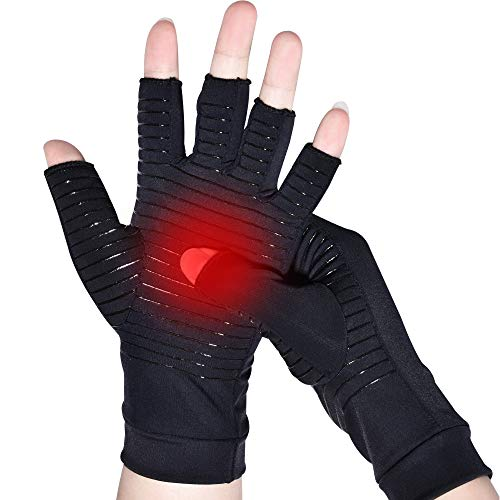 Guanti compressione in rame, Guanti per artrite,Nuovo Materiale,Allevia l'artrosi reumatoide e il...