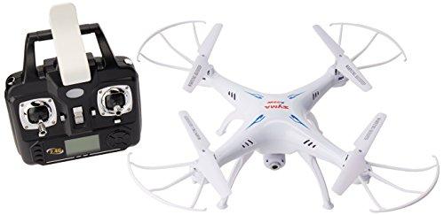 SYMA x5SW Drone, Cámara HD Wi-Fi Tiempo Real FPV, Fotos y Videos, Quadricopter, Color Blanco