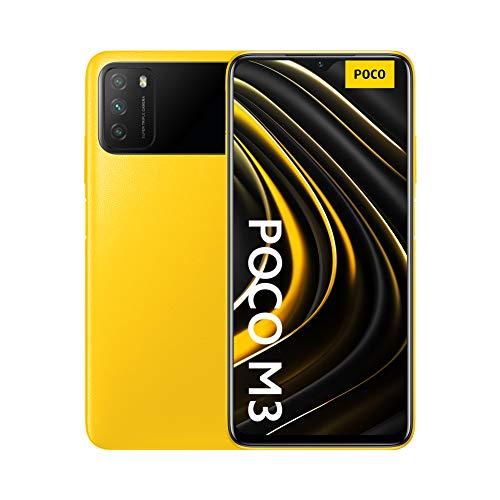 "Xiaomi M3 - Smartphone 4 + 64 GB, 6,53"""" FHD+ Dot-Drop-Display, Snapdragon 662, 48 MP AI Triple-Kamera, 6.000 mAh, Poco Yellow (Offizielle Version + 2 Jahre Garantie)"