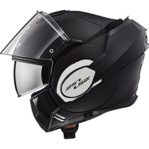 LS2 Casque moto VALIANT MAT Noir - M, Noir, Taille M