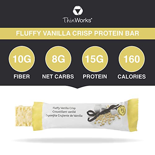 ThinWorks Weight Loss Bars and Fat Burner Pills, Fluffy Vanilla Crisp Low-Carb Protein Bars, Ultra Fat Burner Thermogenic Metabolism Booster, Weight-Loss Supplement for Women and Men 3