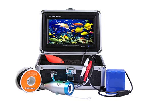 GAMWATER 7' Inch 1000tvl Underwater Fishing Video Camera Kit 12 PCS LED Infrared Lamp Lights Video...