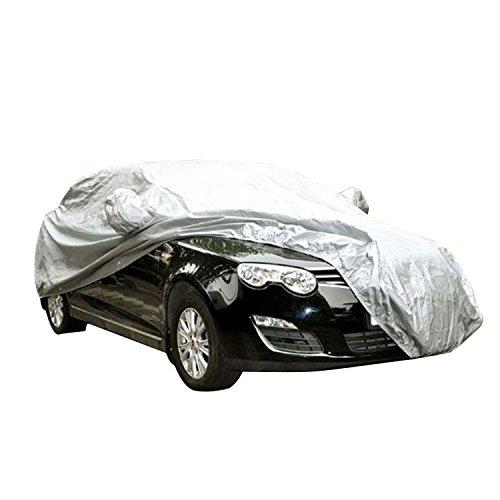 logei® cubierta del coche a prueba de agua lonas llenas de garaje cubierta exterior especial resistente al agua para retrovisor, plata (450 x 175 x 150cm)