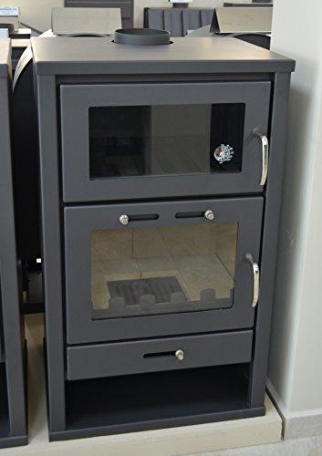 Poêle à bois four Integral chaudière Cheminée cuisinière pour chauffage central Journal de combustible solide Brûleur 14/21kW