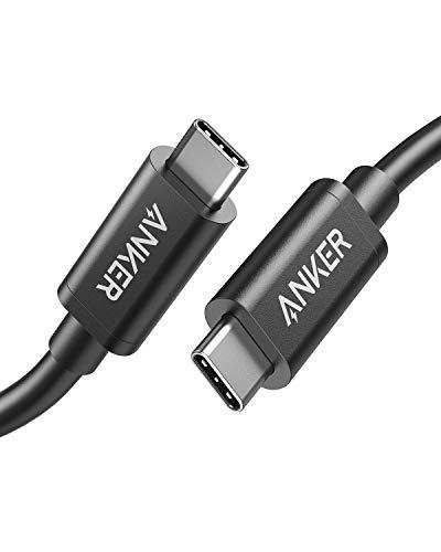 Anker USB-C & USB-C Thunderbolt 3 ケーブル (0.5m ブラック)【100W出力 / 40Gbps / 高速データ転送 / 4K...