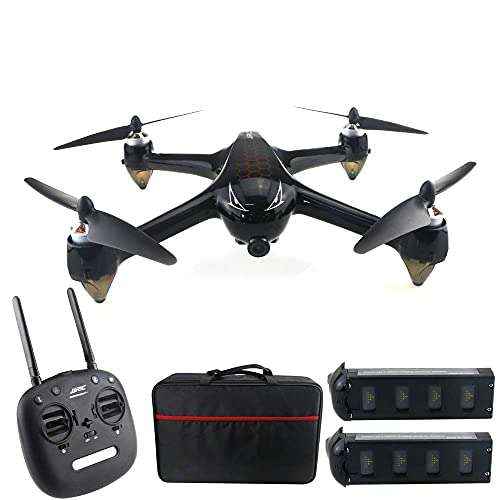 JJDSN Drone 8.0MP, 5G WiFi GPS brushless Motor, 1080P 160deg; Large Wide-Angle HD FPV Remote Drone, Follow Me Away/One-Button Return, 2 Batteries Suitable for Adult Beginners