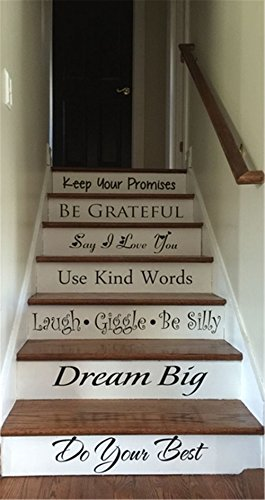 YttBuy Stair Decals Stair Stickers Staircase Decals Staircase Stickers Quotes Stairway Decals Stairway Stickers Quotes Step Decals Staircase