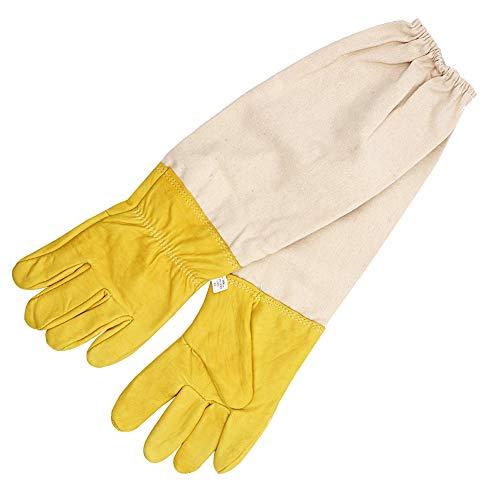 M.Z.A, guanti protettivi in pelle di capra con maniche lunghe ventilate, adatti per apicoltori...