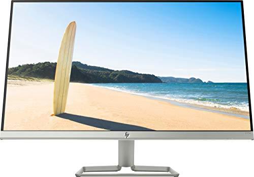 HP 27fw Monitor - 27 Zoll Bildschrim, Full HD IPS Display, AMD FreeSync, HDMI, VGA, 1920 x 1080, 60Hz, 5ms Reaktionszeit / silber