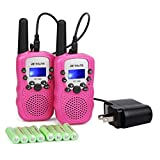 Retevis RT-388 Kids Walkie Talkies Rechargeable 22CH Girls Teens Pink Walkie Talkies for Kids(1 Pair)
