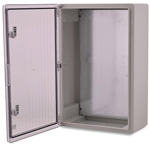 BOXEXPERT Quadro elettrico a parete scatola armadio 600x400x200mm IP 65 grigio RAL7035 trasparente...