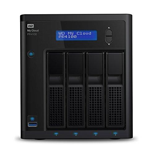 WD Diskless My Cloud?Pro Series PR4100 Network Attached Storage - NAS - WDBNFA0000NBK-NESN 並行輸入品