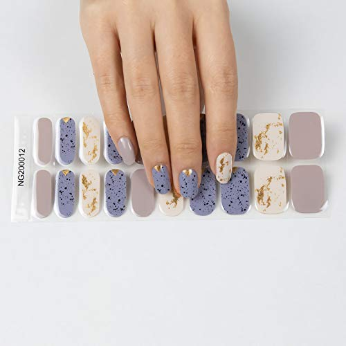 Semi Cured Gel Nail Strips - 20 Stickers Nail Gel Polish Strips - No Chip Gel Nail Stickers for Women, Brighter, Stabler and Long Lasting, Idea Gift for Yourself , Sisters, Mothers