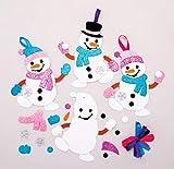 Baker Ross Kits de décorations Bonhomme de Neige à Assortir (Paquet de 6)...