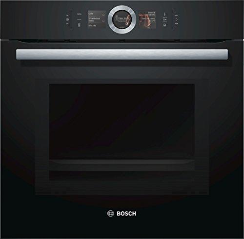 Bosch HNG6764B6 Serie 8 Backofen Elektro / A / 67 L / Vulkan Schwarz / Pyrolyse-Selbstreinigung / Mikrowellenfunktion / PerfectRoast & PerfectBake / HomeConnect