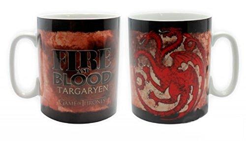Game of Thrones - taza grande de 460 ml - Targaryen - Fire y Blood - genial y estable en una diseño!