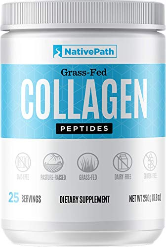 NativePath - Collagen Protein Powder - 8.82 Oz. - 25 Servings - From Premium Grass-Fed Bovine For Youthful Skin, Metabolism, Joint Health, More - Tasteless, Odorless - Keto-Friendly - Dairy-Free - Pal 1