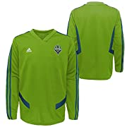 100% Polyester AEROREADY technology absorbs moisture and makes you feel dry V-neck with rib-knit insert and side mesh pannels Embroidered fabric team crest applique on left chest Youth boys sizing: Small (8), Medium (10-12), Large (14-16), X-Large (1...