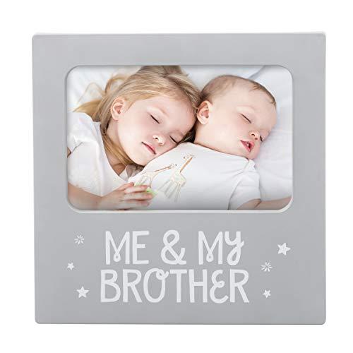 Tiny Ideas 'Me & My Brother' Sentiment Keepsake Frame, Gift...