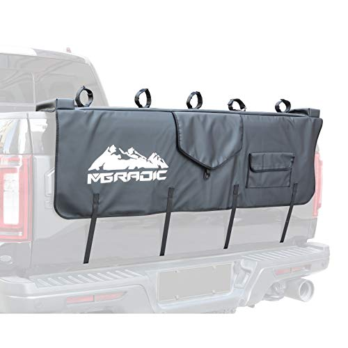 MGPRO 61' Large Waterproof Tailgate Pad with Tool Pocket Secure Frame Straps for Mountain Bikes Mechanic Tools/Tailgate Cover Surf