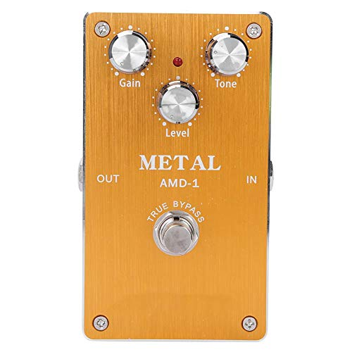 Dilwe Electric Guitar Effect Pedal, Metal Distortion Effect Pedal Accessory for Electric Guitars
