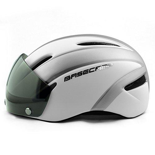 BASE CAMP Zoom/Zoom Aero Road Bike Helmet with Removable Visor