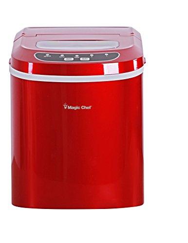 Magic Chef 27-Lb. Portable Red Countertop Ice...