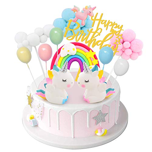 DUOUPA Unicornio Decoración de Tartas Cake Topper Unicornio
