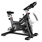 JOBUR Belt Drive Cycle Bike with Magnetic Resistance Exercise Bikes-Quiet Indoor Cycling Bike Stationary with Tablet Holder&Comfortable Seat Cushion, Stationary Bikes For Home