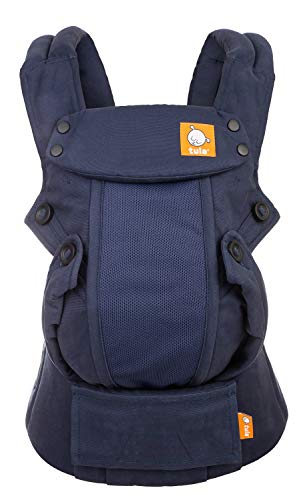 Baby Tula Coast Explore Mesh Baby Carrier 7  45 lb, Adjustable Newborn to Toddler Carrier, Multiple Ergonomic Positions Front and Back, Breathable  Coast Indigo, Navy Blue