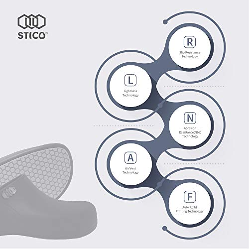 Product Image 6: STICO Men's Slip Resistant Chef Clogs, Professional Non-Slip Work Shoes with Air Vents for Restaurant Hospital Nursing Garden [Black/US Men 5]