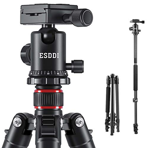 ESDDI Camera Tripod, DSLR Tripod with 360 Degree Ball Head, 64...