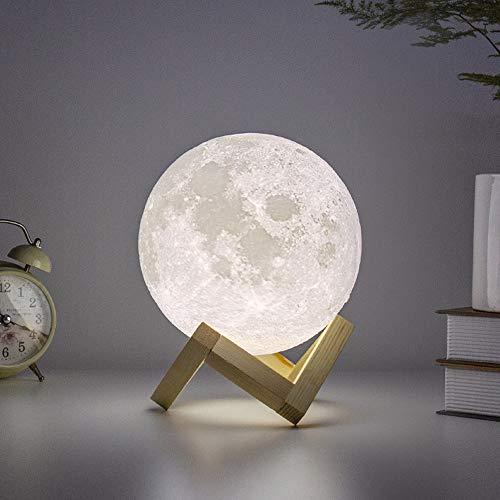 BRIGHTWORLD Moon Lamp Moon Night Light 3D Printed 5.9IN...