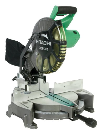 Hitachi C10FCH2 Sierra Ingleteadora con Guía Laser Incluye Sierra Circular Bolsa Recolectora, 10' 1520 W 5000 Rpm