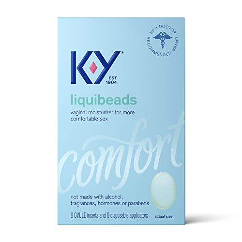Personal Lubricant, K-Y Liquibeads Vaginal Moisturizer, 6 Bead Inserts and 6 Applicators to Supplement a Woman's Natural Moisture for Comfort and Sex (Packaging May Vary)