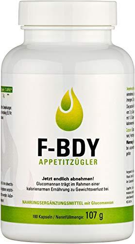 Vihado F-BDY Appetitzügler Kapseln, Jetzt endlich abnehmen, 180 Kapseln, 1er Pack (1 x 107 g)