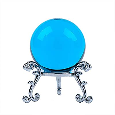 Include gold-plated flowering stand and nice gift box The product is almost perfect and lead-free Crystal ball is also a very good decoration You can use it for photography and magic props This is a Blue K9 crystal ball