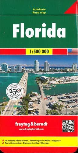Florida, mapa de carreteras. Escala 1:500.000. Freytag & Berndt.: Wegenkaart 1:500 000 (Auto karte)