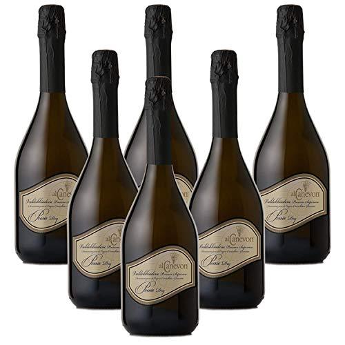 Valdobbiadene Prosecco Superiore DOCG POESIE DRY Al Canevon - 6 Bottiglie 0,75ml