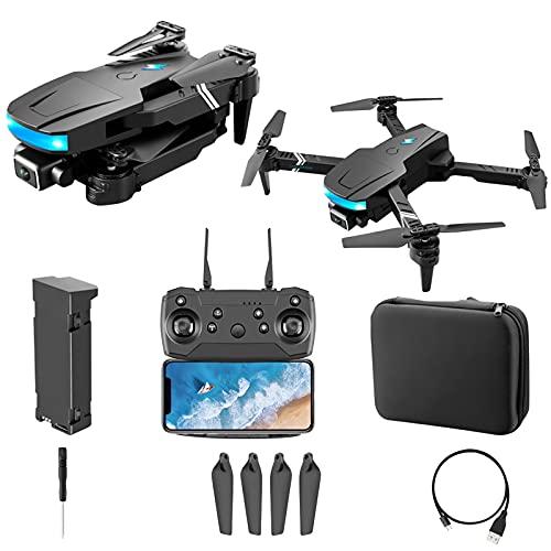 Drone con fotocamera 4K HD video in tempo reale pieghevole telecomando quadcopter adatto per i principianti giocattoli per bambini, 2 batterie, telecamere doppie