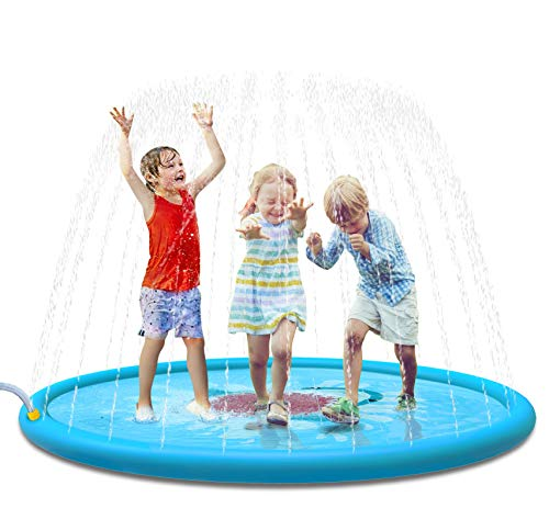 "Jasonwell Sprinkle & Splash Play Mat 68"" Sprinkler for Kids Outdoor Water Toys Fun for Toddlers Boys Girls Children Outdoor Party Sprinkler Toy Splash Pad"