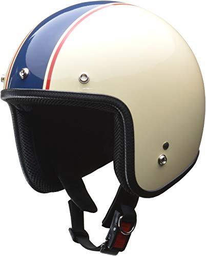 リード工業(LEAD) バイクヘルメット ジェット GRENVER アイボリー/ネイビー フリーサイズ -