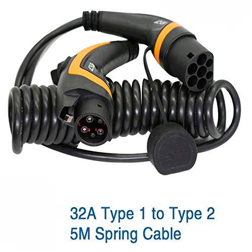 Cable de carga - Tipo 1 al tipo 2 IEC 62196-2 - 32A Monofásico - 5 Metros
