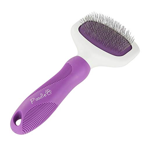 Poodle Pet Slicker Brush for Small and Large Dogs Pet Hair Remover with Rotating Head | Effectively and Effortlessly Removes Tangles, Mats, and Loose Hair | for Short or Long Hair(Grooming Brush)