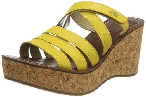 FLY London Gove620fly, Mules Mujer, Amarillo (Bright Yellow 004), 39 EU