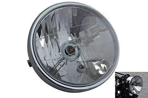 Chrom Motorrad Scheinwerfer 6.5 inch Durchmesser 12V 35W E-Geprüft