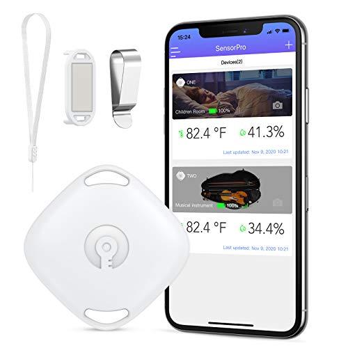 Termometro Igrometro Bluetooth, ORIA Wireless Termometro per Interno con 3 Modalit di Utilizzo, Misuratore Temperatura Umidit Digitale con Suono di Avviso y Calibrazione, Supporto Android y iPhone